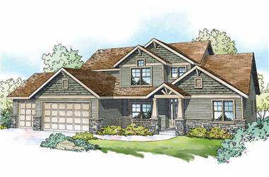 5-Bedroom, 3017 Sq Ft Farmhouse House Plan - 108-1983 - Front Exterior
