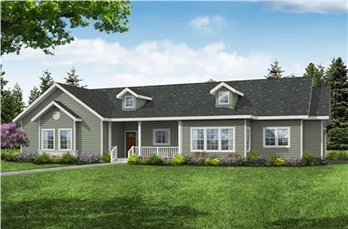3-Bedroom, 1918 Sq Ft Ranch House Plan - 108-1985 - Front Exterior