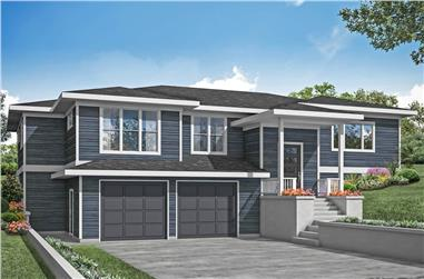 3-Bedroom, 2431 Sq Ft Multi-Level Home - Plan #108-1989 - Main Exterior
