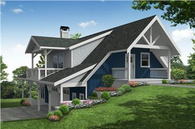 1-Bedroom, 2049 Sq Ft Vacation Home - Plan #108-1990 - Main Exterior