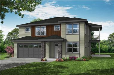 3-Bedroom, 2388 Sq Ft Contemporary House Plan - 108-1992 - Front Exterior