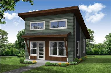 1-Bedroom, 460 Sq Ft Contemporary House - Plan #108-1993 - Front Exterior