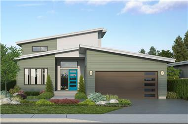 3-Bedroom, 2448 Sq Ft Contemporary House - Plan #108-1995 - Front Exterior