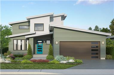 3-Bedroom, 2448 Sq Ft Contemporary House Plan - 108-1995 - Front Exterior