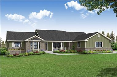 3-Bedroom, 2396 Sq Ft Ranch House - Plan #108-1996 - Front Exterior