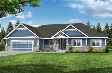 4–5-Bedroom, 2664 Sq Ft Ranch Home - Plan #108-1998 - Main Exterior
