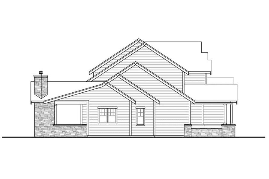 Home Plan Left Elevation of this 3-Bedroom,3066 Sq Ft Plan -108-1999