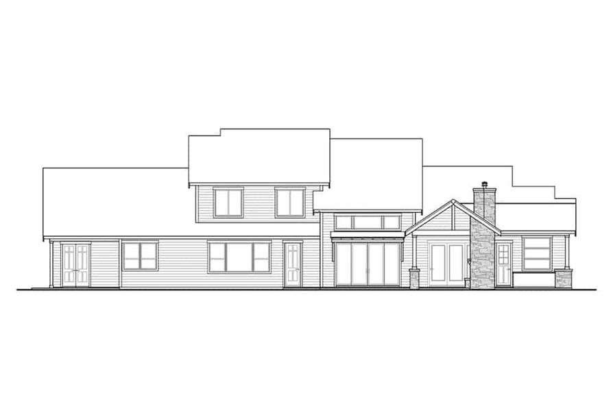 Home Plan Rear Elevation of this 3-Bedroom,3066 Sq Ft Plan -108-1999