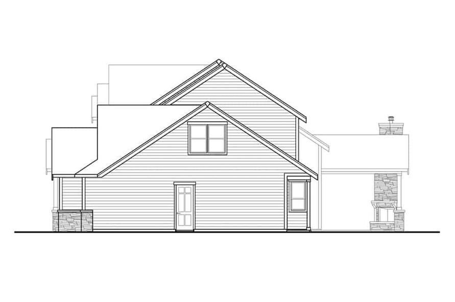 Home Plan Right Elevation of this 3-Bedroom,3066 Sq Ft Plan -108-1999
