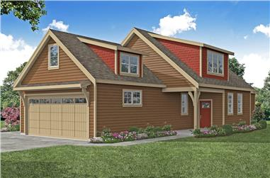 3-Bedroom, 1656 Sq Ft Colonial House - Plan #108-2002 - Front Exterior