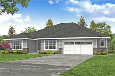 3–4-Bedroom, 3012 Sq Ft Ranch Home Plan - 108-2004 - Main Exterior
