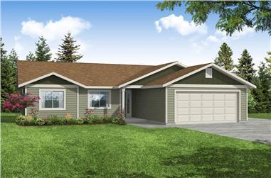 3-Bedroom, 1266 Sq Ft Ranch Home - Plan #108-2005 - Main Exterior