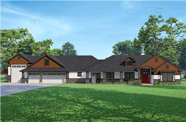 3-Bedroom, 2792 Sq Ft California Style House - Plan #108-2009 - Front Exterior