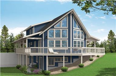 4-Bedroom, 2906 Sq Ft Vacation Home - Plan #108-2010 - Main Exterior