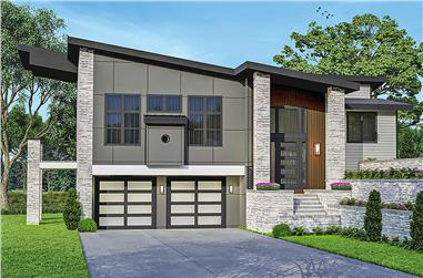 3-Bedroom, 2584 Sq Ft Contemporary House - Plan #108-2011 - Front Exterior