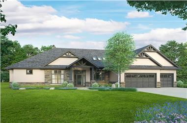 3-Bedroom, 2880 Sq Ft Ranch House - Plan #108-2013 - Front Exterior
