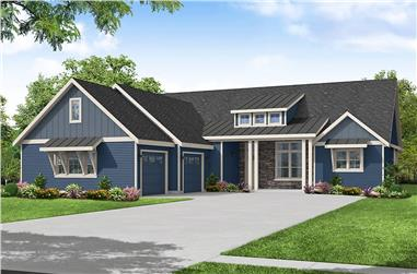 3-Bedroom, 2327 Sq Ft Ranch House - Plan #108-2014 - Front Exterior
