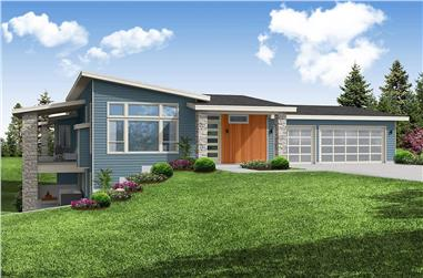 3-4 Bedroom, 2919 Sq Ft Contemporary House - Plan #108-2015 - Front Exterior
