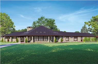 3-Bedroom, 3433 Sq Ft Ranch House - Plan #108-2016 - Front Exterior