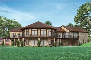 4-Bedroom, 4461 Sq Ft European Home Plan - 108-2017 - Main Exterior