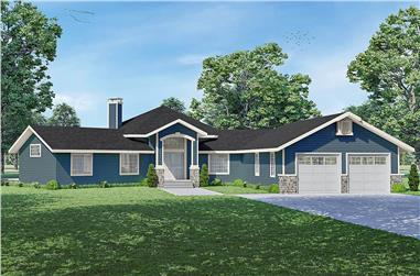 2-Bedroom, 2236 Sq Ft Ranch Home - Plan #108-2018 - Main Exterior