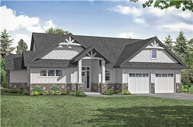 2-Bedroom, 2426 Sq Ft Transitional Home - Plan #108-2019 - Main Exterior