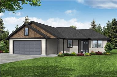3-Bedroom, 1383 Sq Ft Ranch Home - Plan #108-2020 - Main Exterior