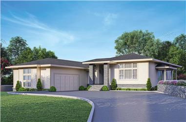 3-Bedroom, 2321 Sq Ft Contemporary House - Plan #108-2021 - Front Exterior