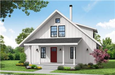2-Bedroom, 1749 Sq Ft Cottage House - Plan #108-2022 - Front Exterior