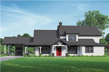 5-Bedroom, 3927 Sq Ft Modern Farmhouse Home - Plan #108-2024 - Main Exterior