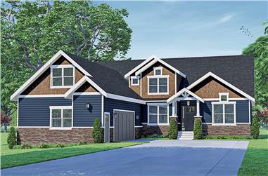 3-Bedroom, 3309 Sq Ft Traditional House - Plan #108-2025 - Front Exterior