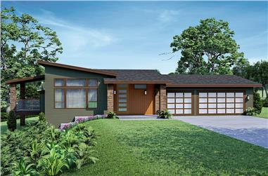3-Bedroom, 2577 Sq Ft Contemporary House - Plan #108-2026 - Front Exterior