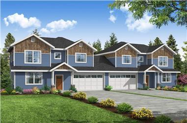 6-Bedroom, 2998 Sq Ft Multi-Unit Home - Plan #108-2027 - Main Exterior