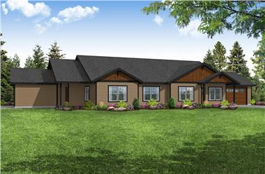 4-Bedroom, 2378 Sq Ft Multi-Unit House - Plan #108-2028 - Front Exterior