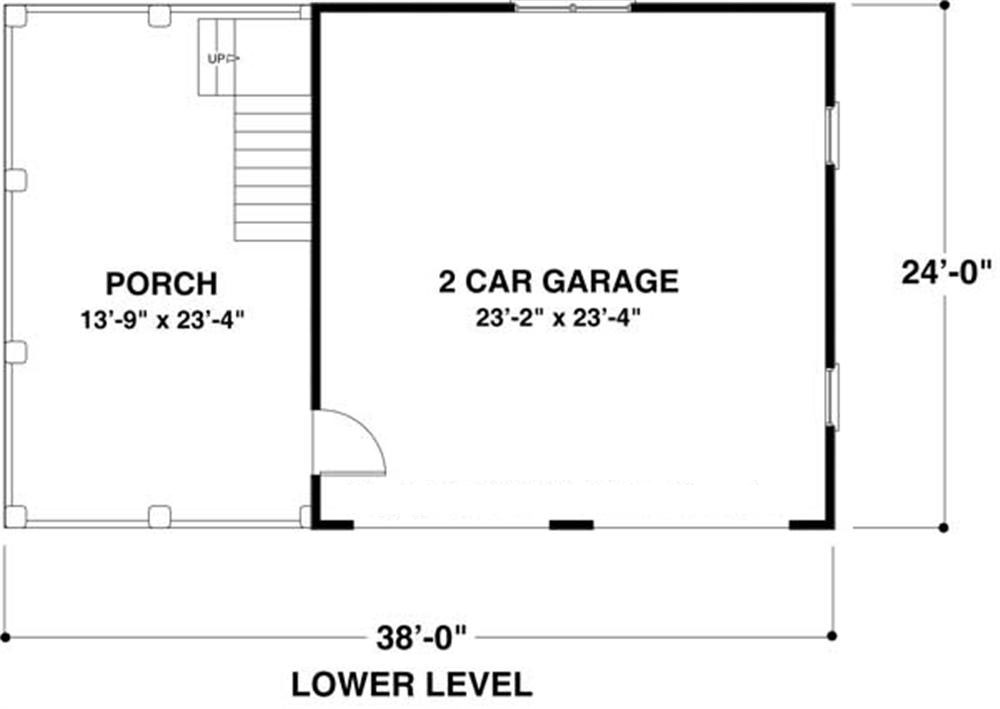 Garage with 2 car 0 bedrm 1207 sq ft floor plan 109 for 1000 sq ft house plans first floor