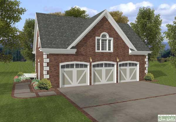 This image shows these Garage House Plans as they truly are, a masterpiece!