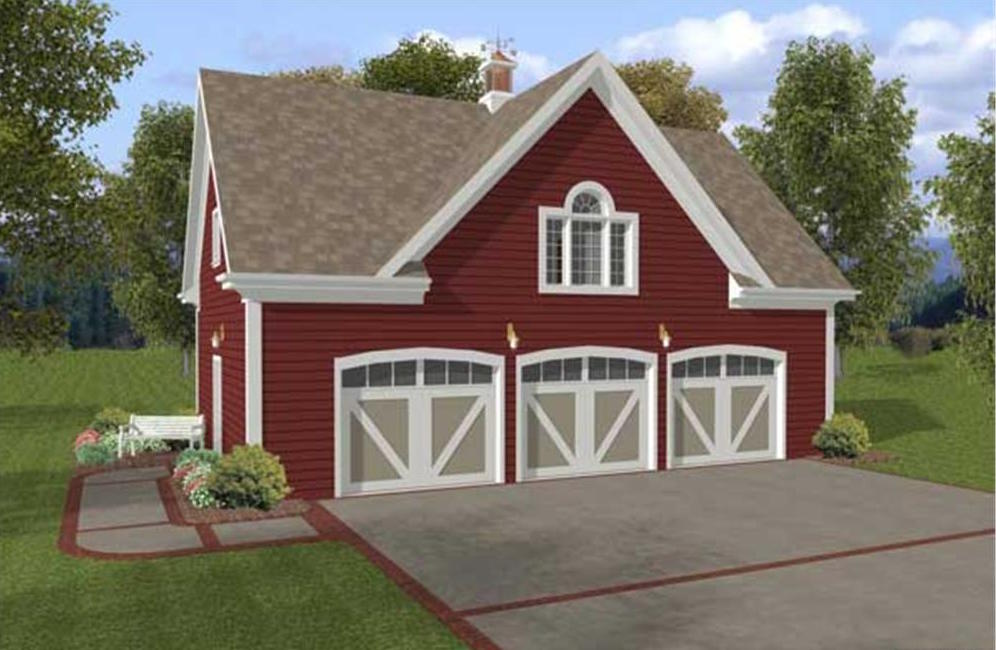 Garage W Apartments With 3 Car 1 Bedrm 750 Sq Ft Plan 109 1001