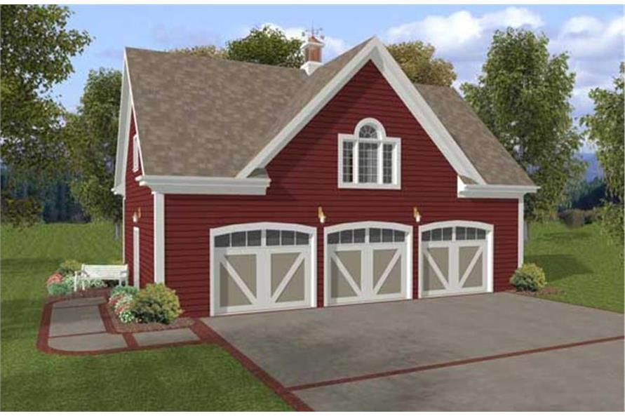 Home Plan Rendering of this 1-Bedroom,750 Sq Ft Plan -109-1001