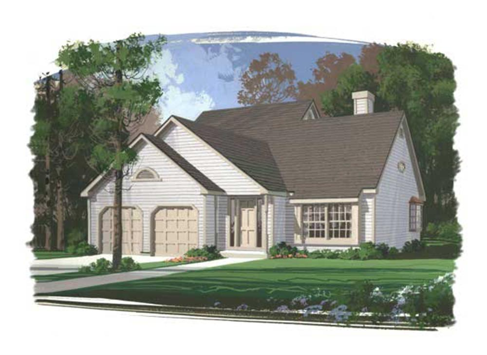 This image shows a colored rendering of these Country Homeplans.