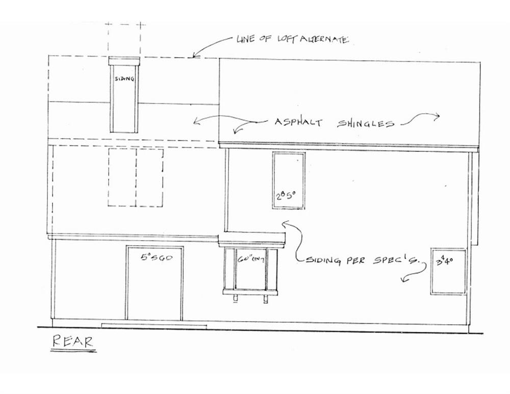 109-1003 house plan rear elevation