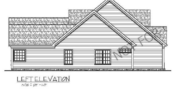 109-1005: Home Plan Left Elevation