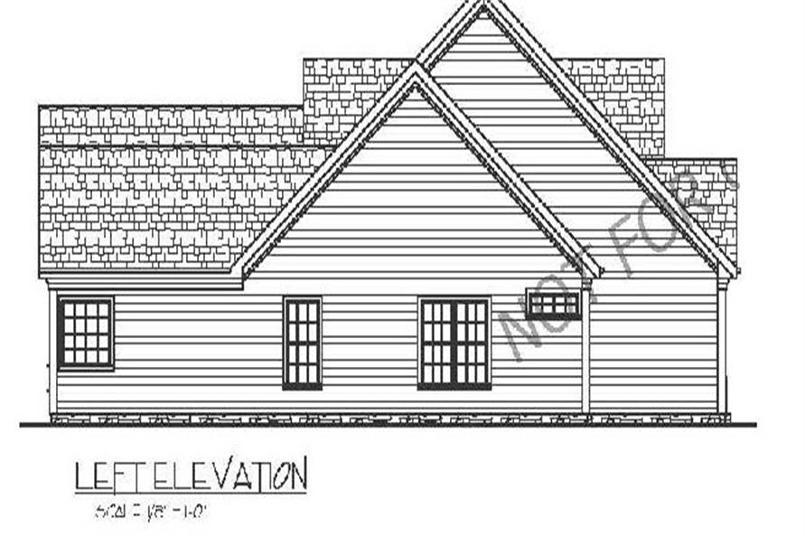 Home Plan Left Elevation of this 3-Bedroom,1798 Sq Ft Plan -109-1005
