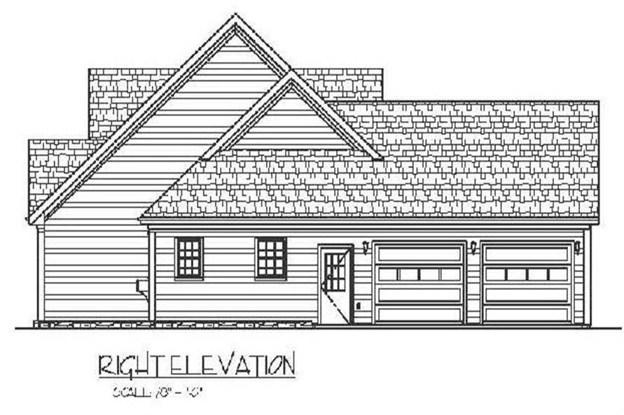Home Plan Right Elevation of this 3-Bedroom,1798 Sq Ft Plan -109-1005