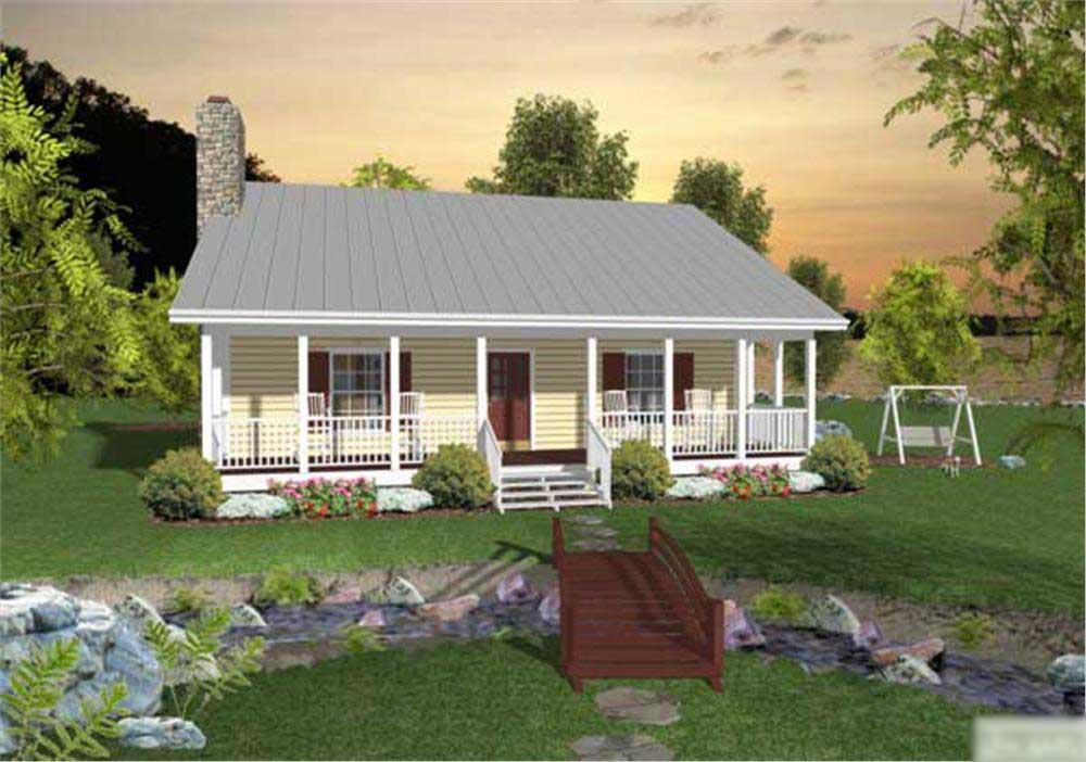 Front elevation of Country home (ThePlanCollection: House Plan #109-1006)