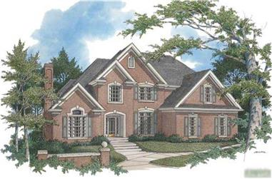 4-Bedroom, 2954 Sq Ft European House Plan - 109-1007 - Front Exterior