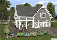This is a front elevation of these Garage Houseplans.