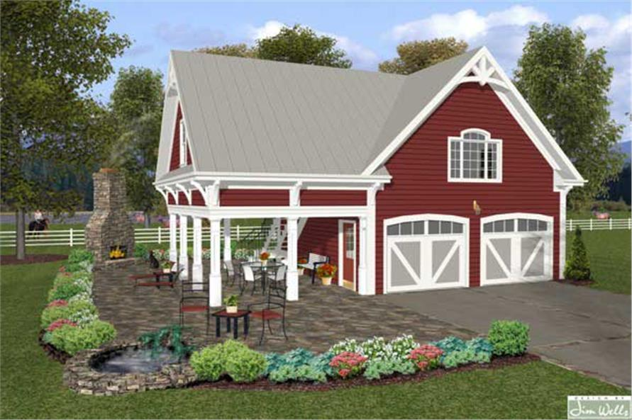 Home Plan Rendering of this 1-Bedroom,792 Sq Ft Plan -109-1008