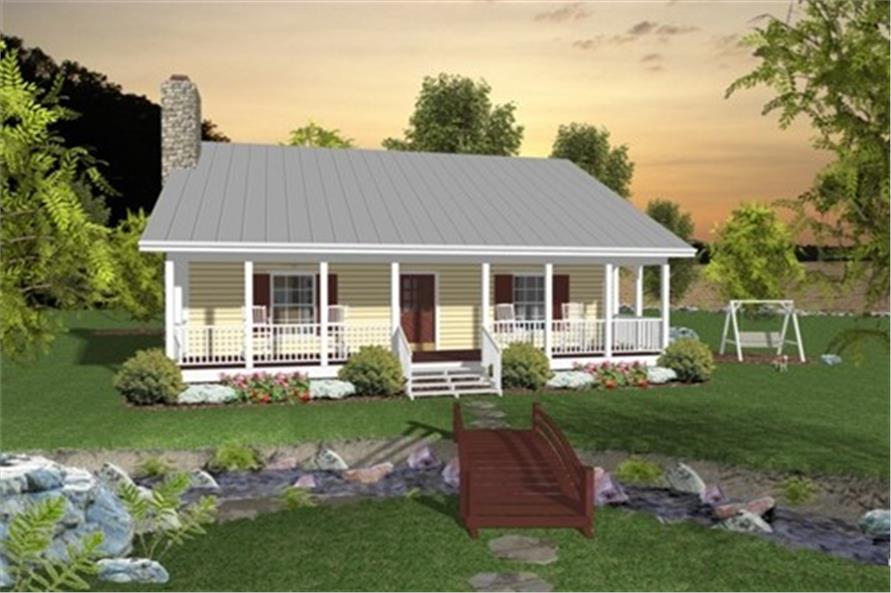 Home Plan Rendering of this 2-Bedroom,953 Sq Ft Plan -109-1010