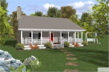 2-Bedroom, 953 Sq Ft Country Home Plan - 109-1010 - Main Exterior