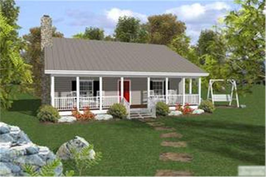 109 1010 2 Bedroom 953 Sq Ft Country Home Plan